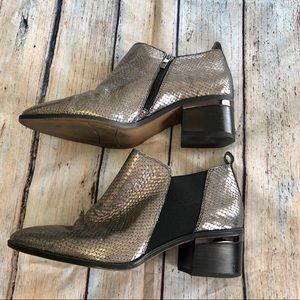 Franco Sarto Silver Arden booties